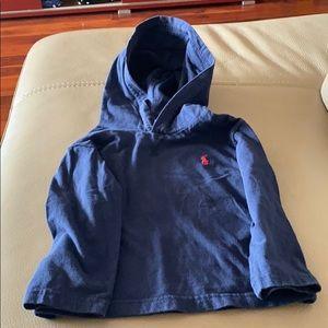 Ralph Lauren blue hooded shirt